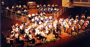 Members of TYS and TYP perform A Lincoln Portrait by Copland with the Kingston Upon Hull Youth Orchestra, Hull UK, 2000.