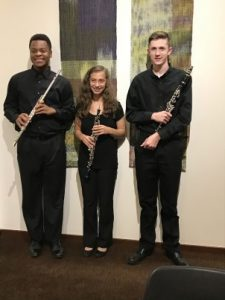 photo of youth woodwind trio