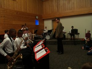 youth jazz play library concert