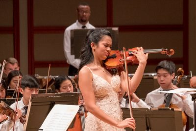 Violinist soloist with Triangle Youth Philharmonic