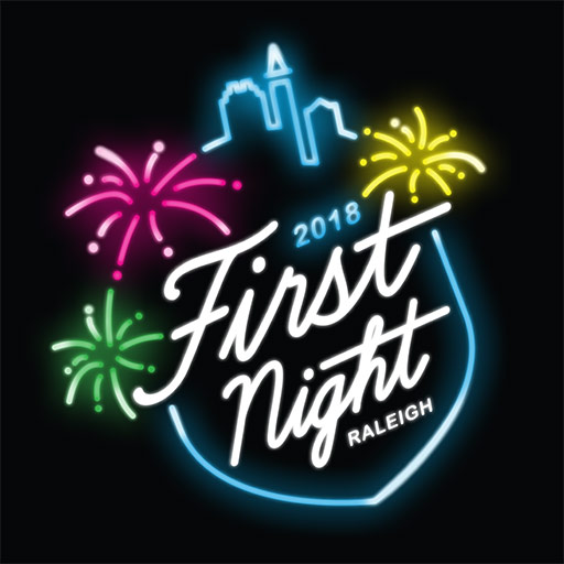 Logo for First night 2018 in Raleigh