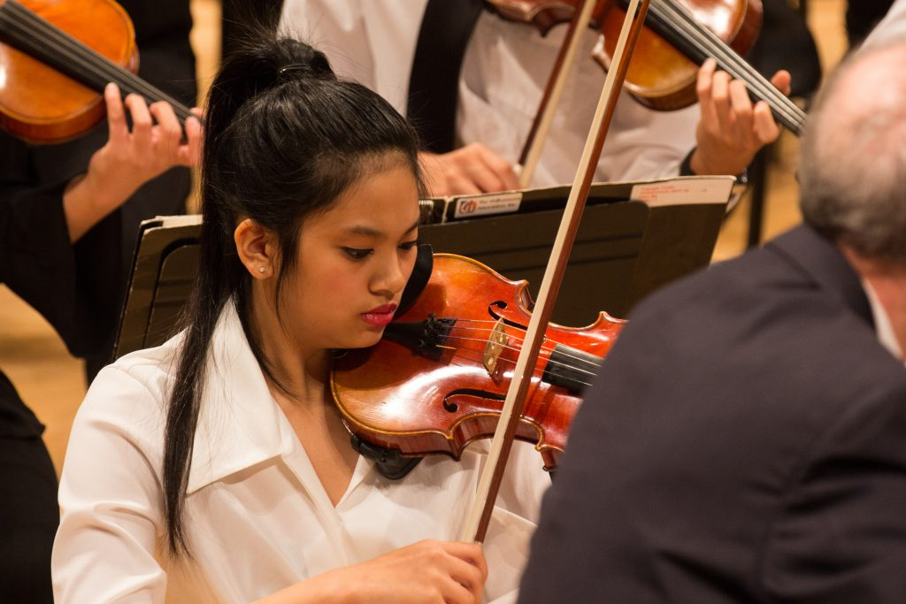close up photo of violinist during a performance
