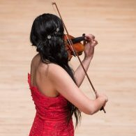 Photo of violin soloist during concert