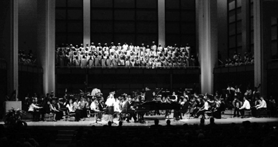 Martin Luther King All-Children's Choir in concert with TYP, 2003.