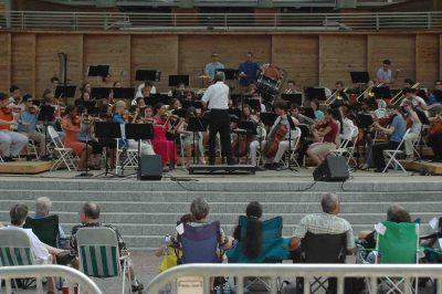 Photo of philharmonic concert at koko booth amphitheater