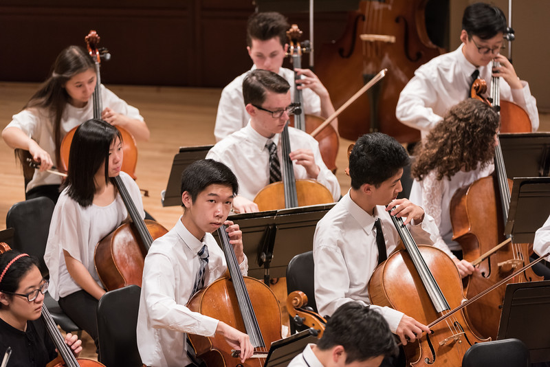 Photo of cellists at philharmonic concert