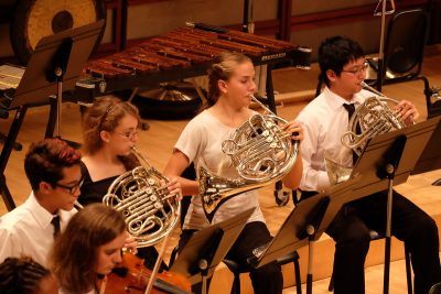 Horn section of Triangle Youth Symphony