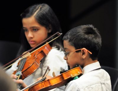 young TYSO violinists