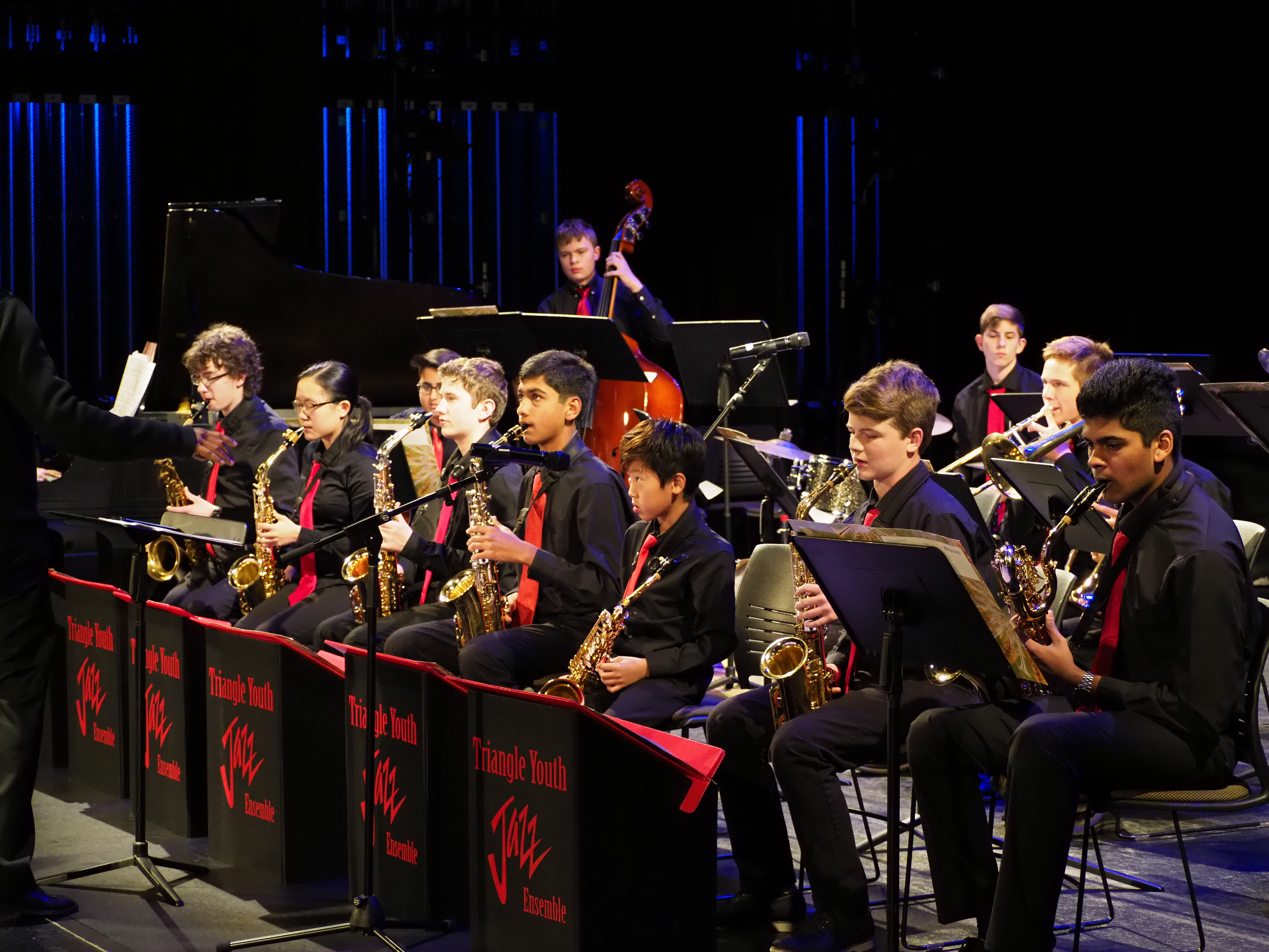 Musicians from Triangle Youth Jazz Band in 2018