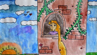 Child's drawing of Rapunzel