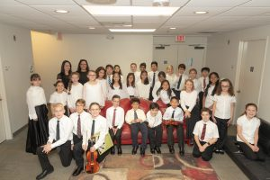 Conductors and students from Triangle Youth String Orchestra
