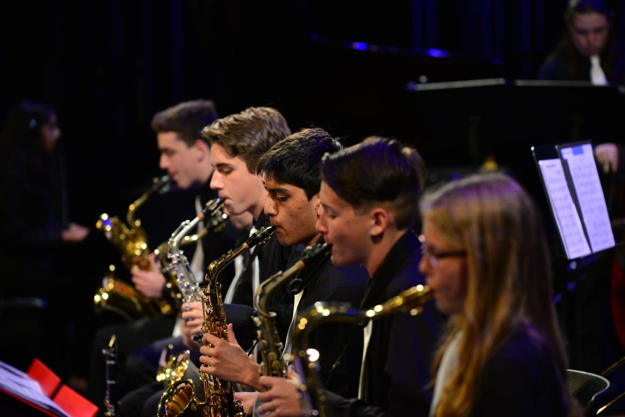 Saxophone section of Triangle Youth Jazz Orchestra