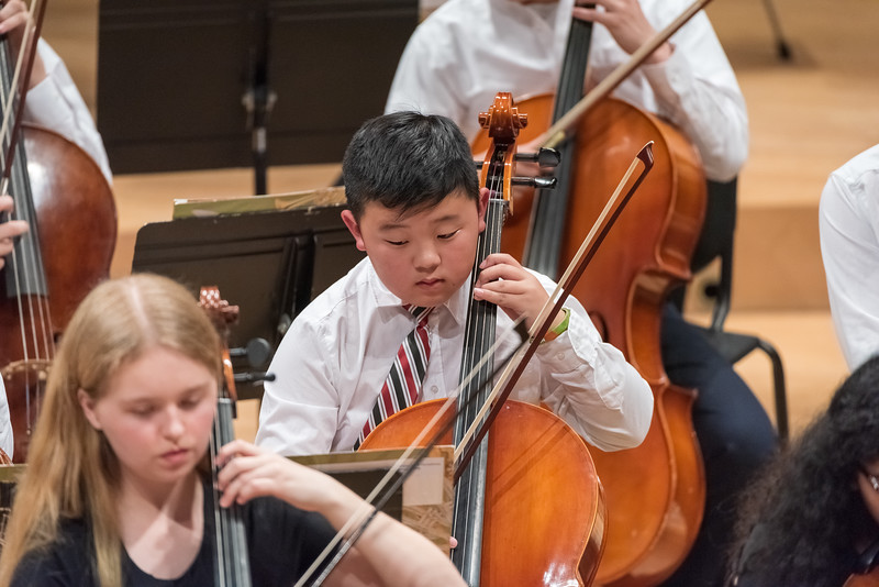 Andrew Chung plays cello during TYS Concert