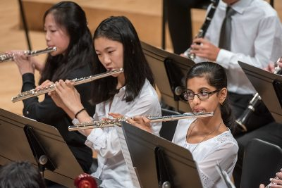 flute players from the Triangle Youth Orchestra