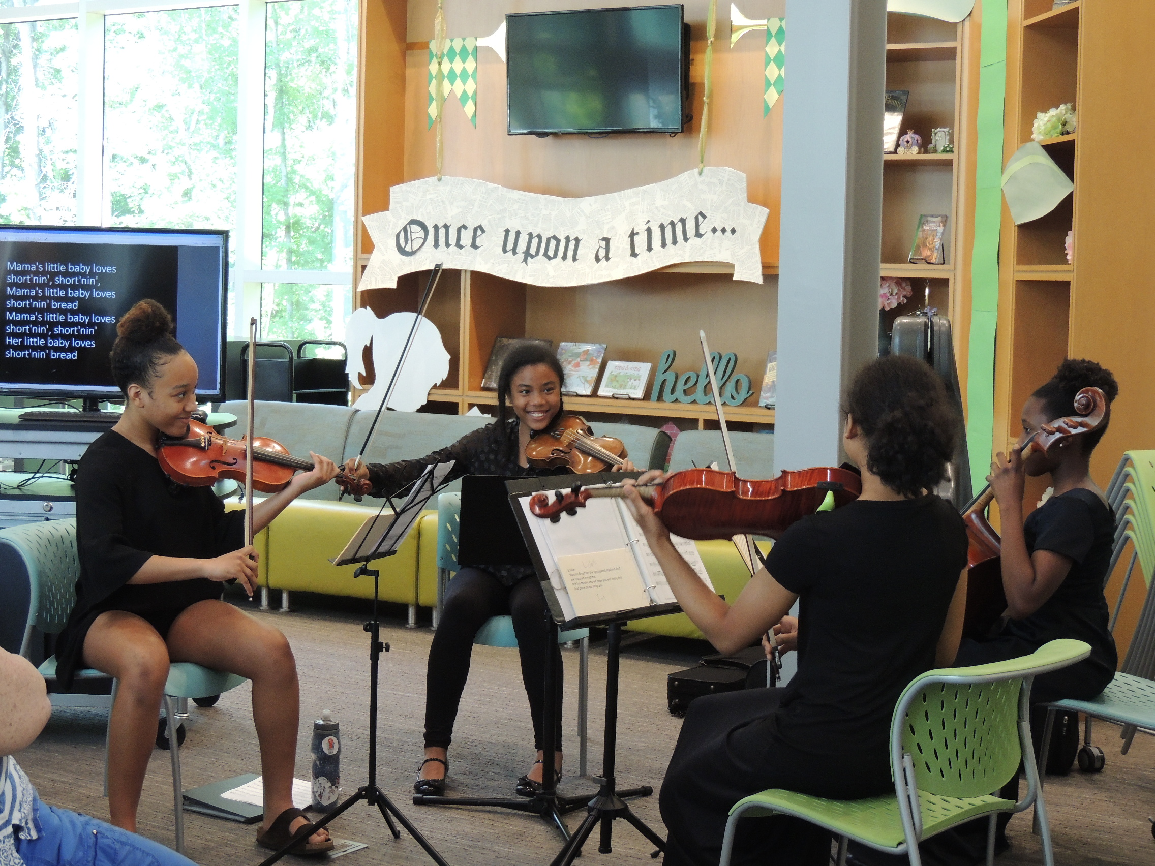 The United Strings of Color perform at the library