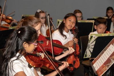 Young musicians from the Triangle Youth String Orchestra