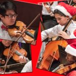 Triangle Youth Philharmonic String Quartet in holiday garb