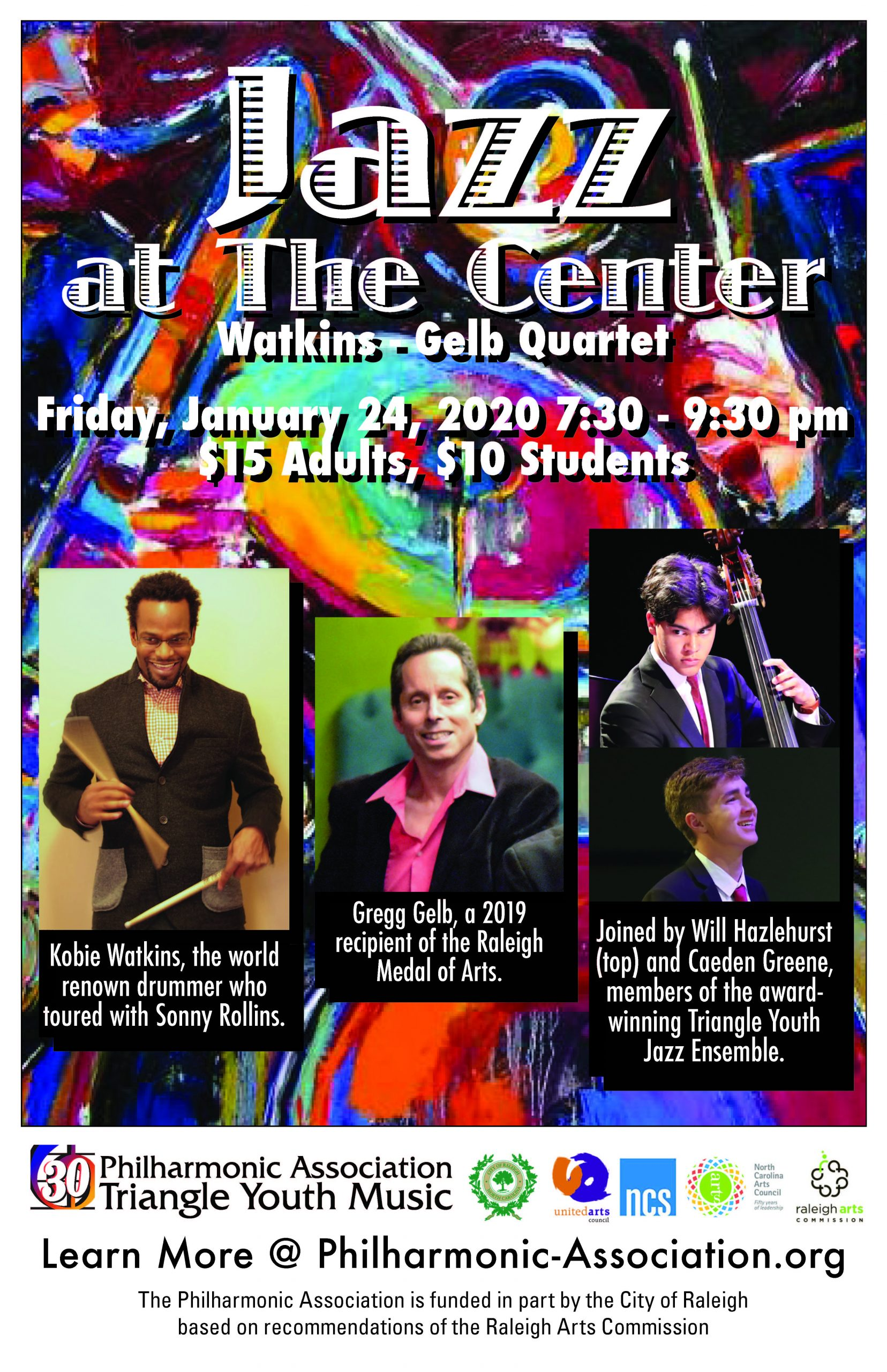 Poster for 1/24/20 Jazz Concert