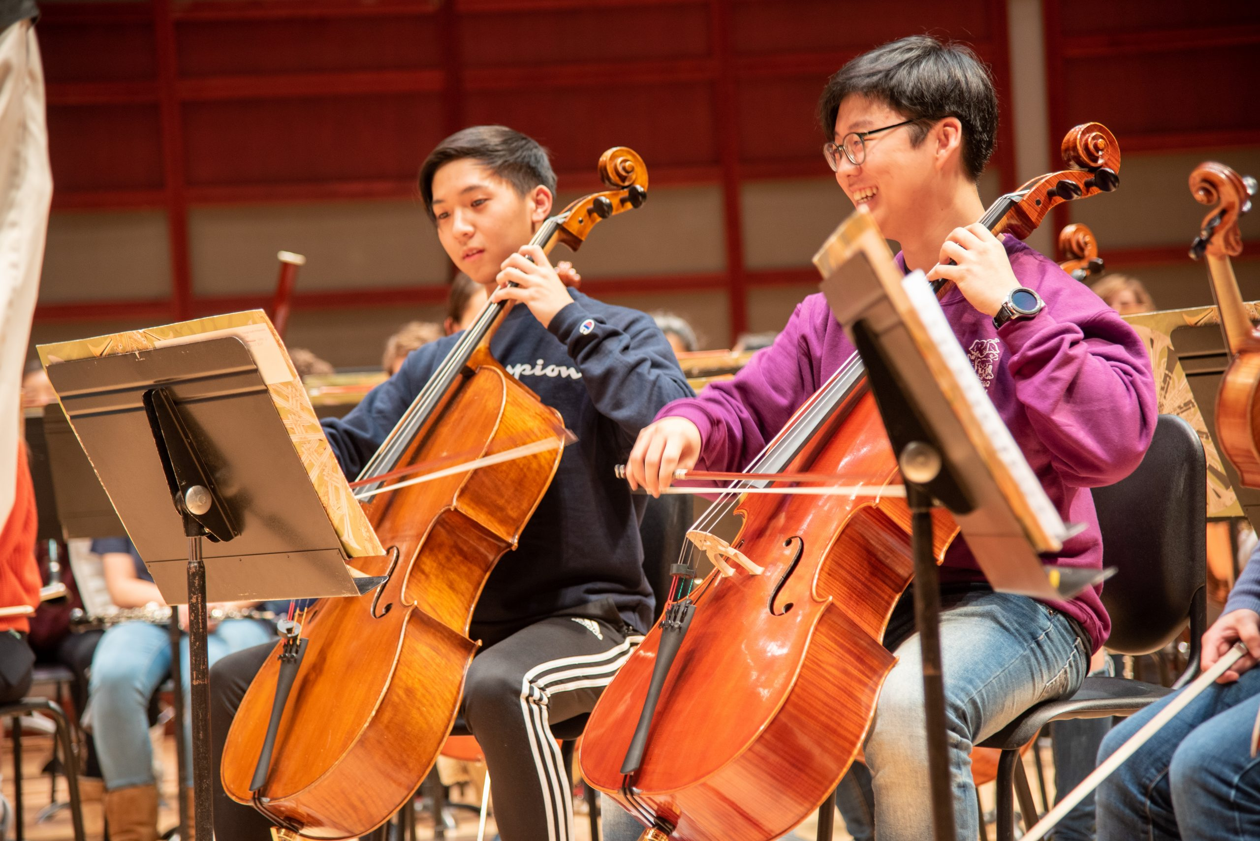 Triangle Youth Philharmonic cellists