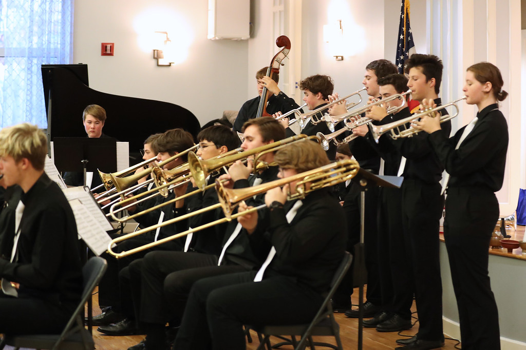 Triangle Youth Jazz Orchestra performs a concert.