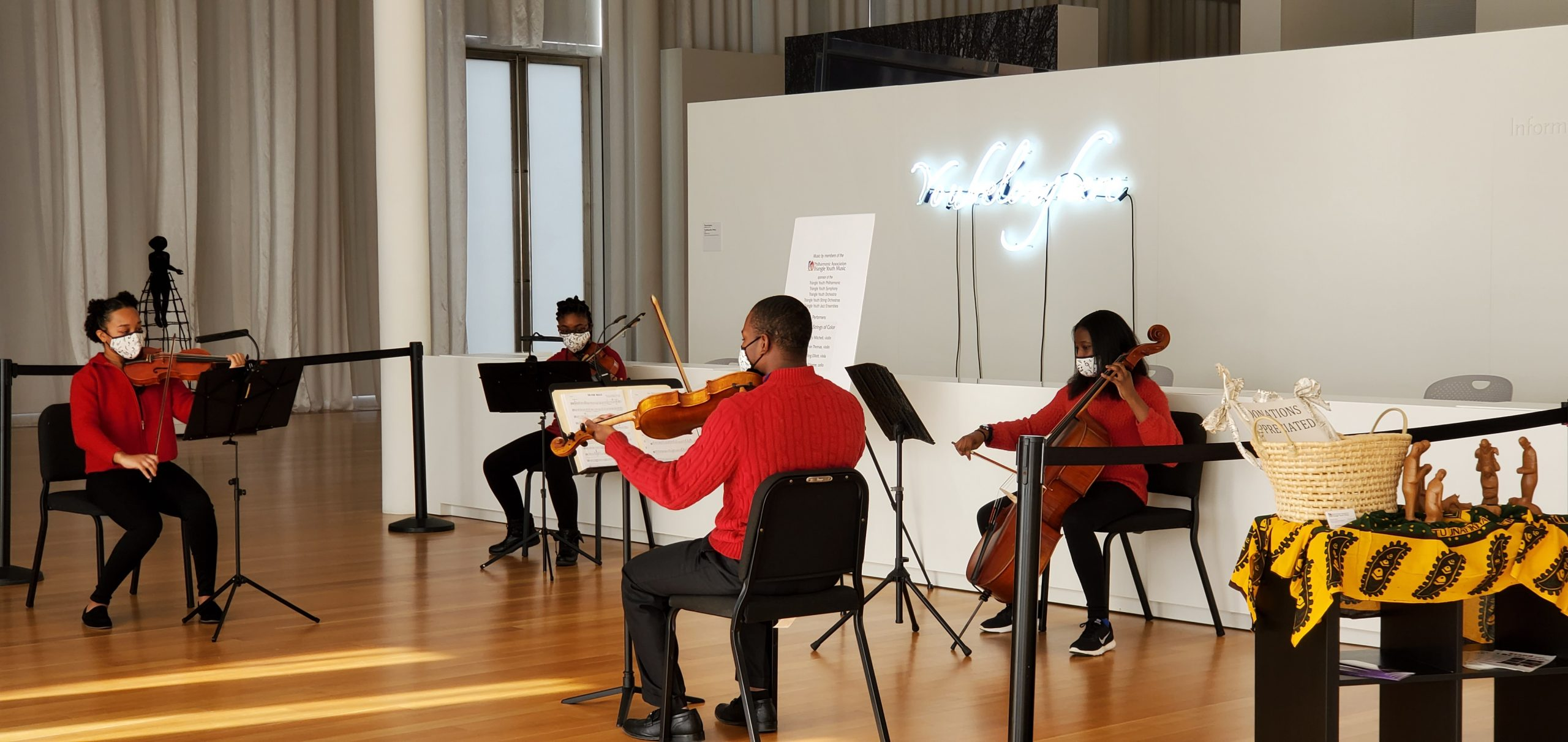 image of United Strings of Color performing at the NC Museum of Art