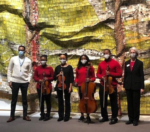 image of united strings of color at the NC Museum of Art