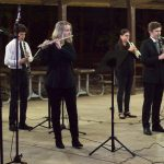 woodwind musicians rehearse