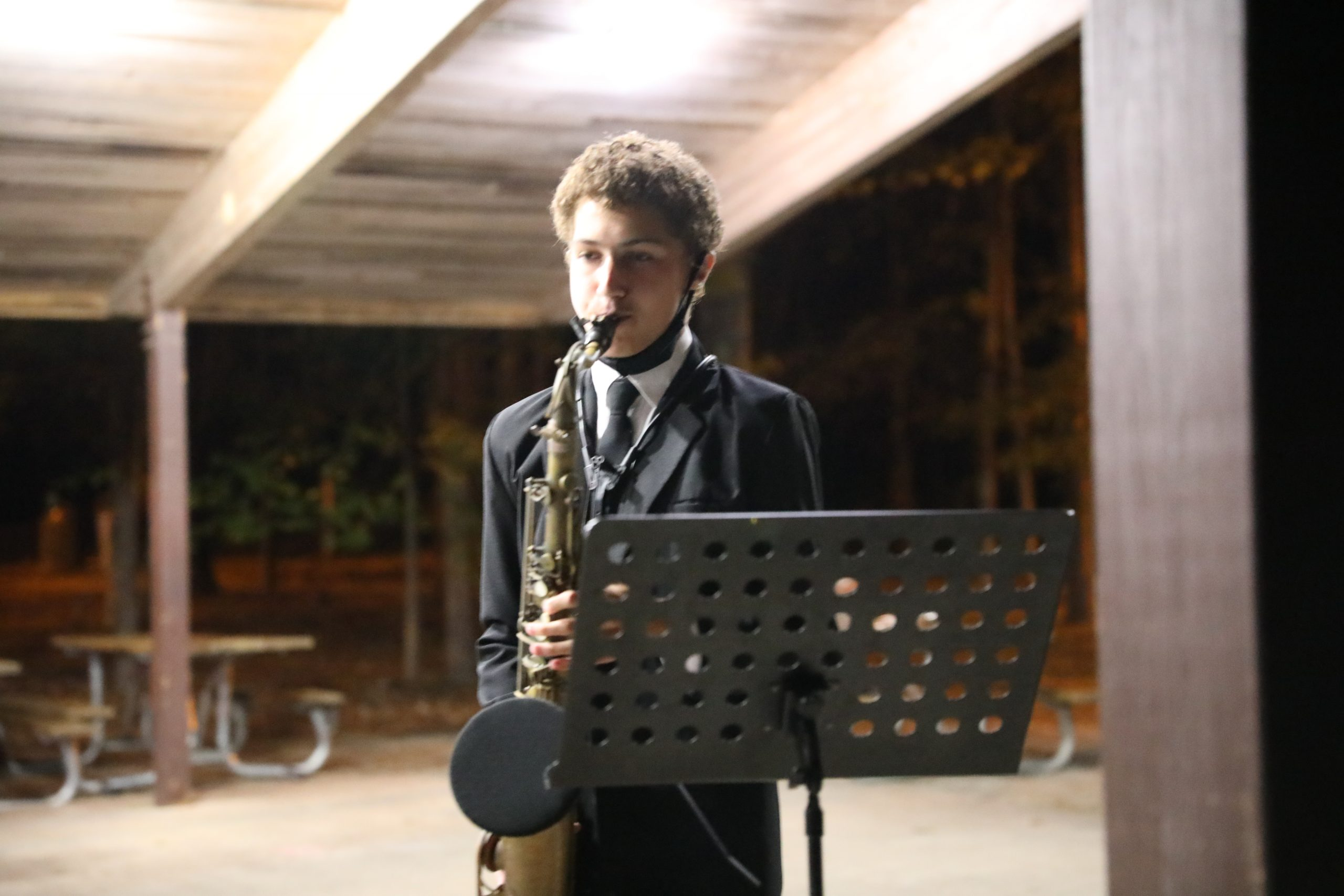 image of Zeb playing saxophone