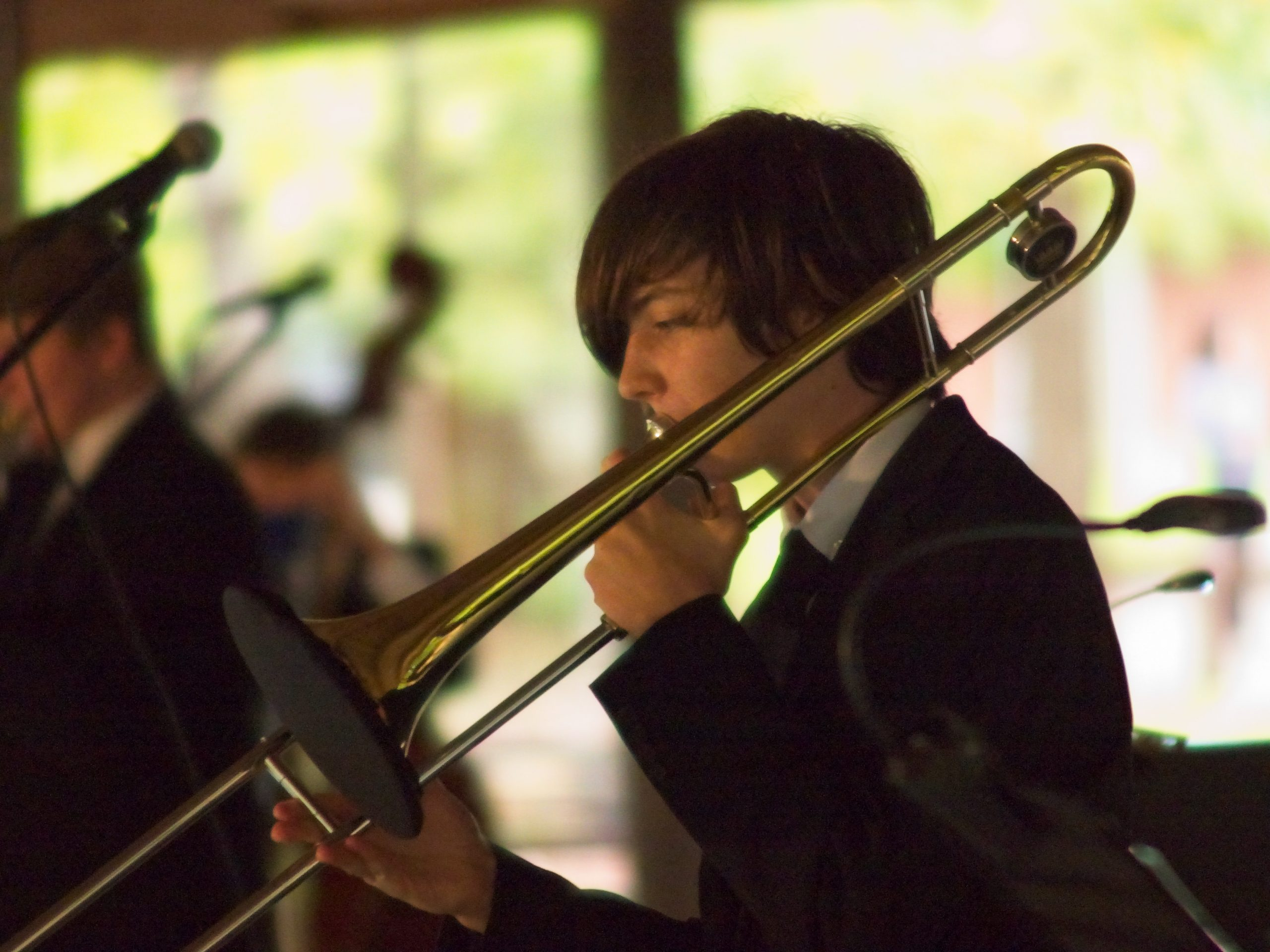 Image of Luke Ramee playing trombone