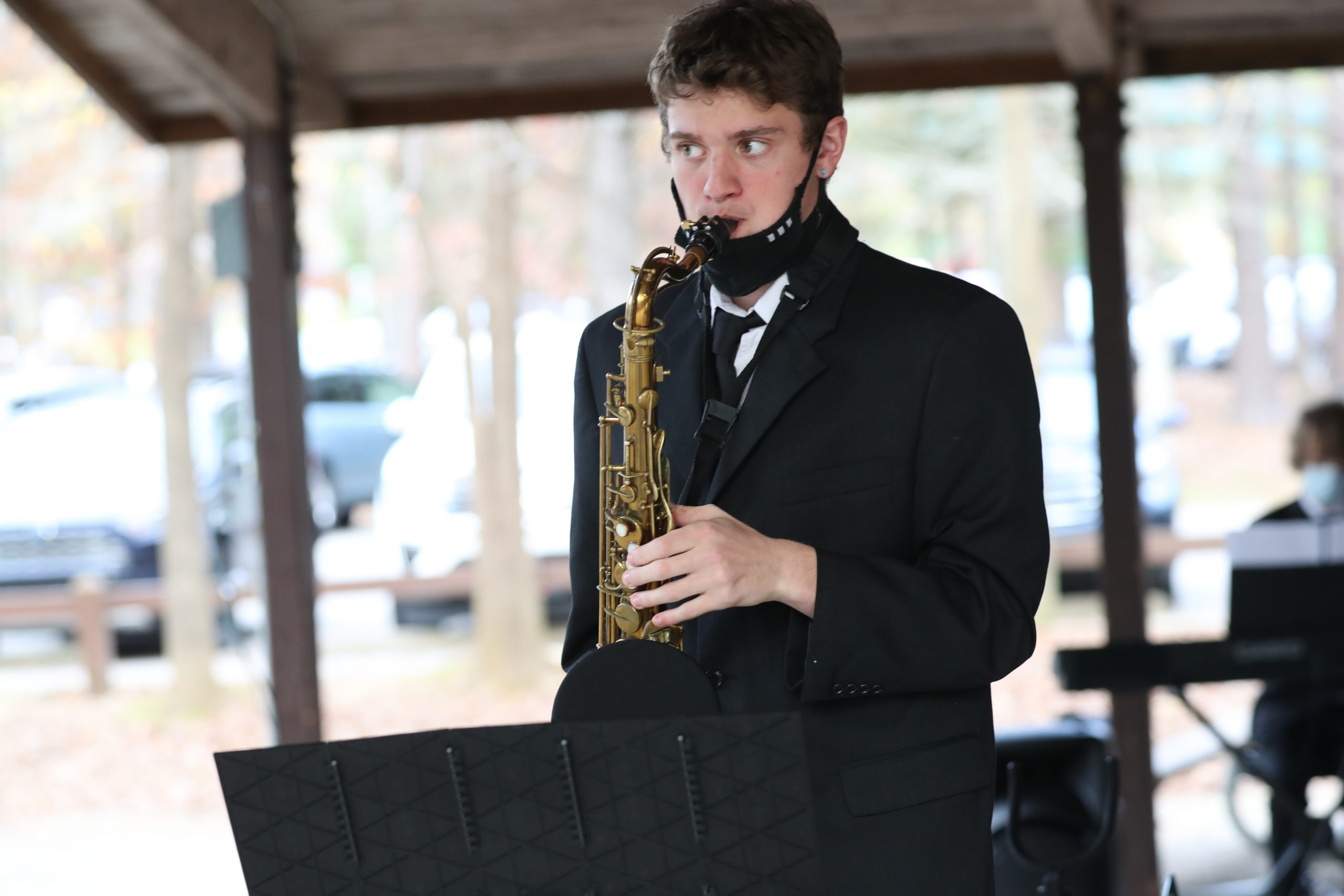 Image of Joseph Foglia playing saxophone