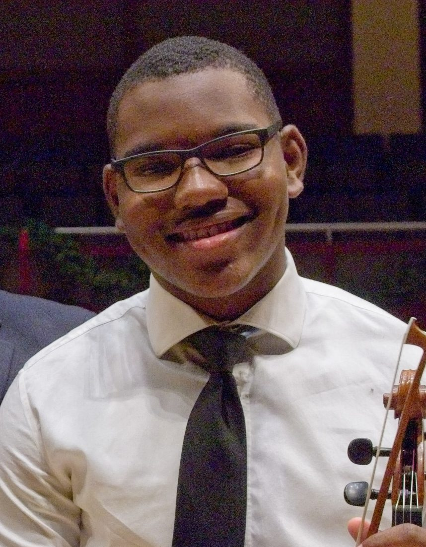 image of sterling elliott with viola