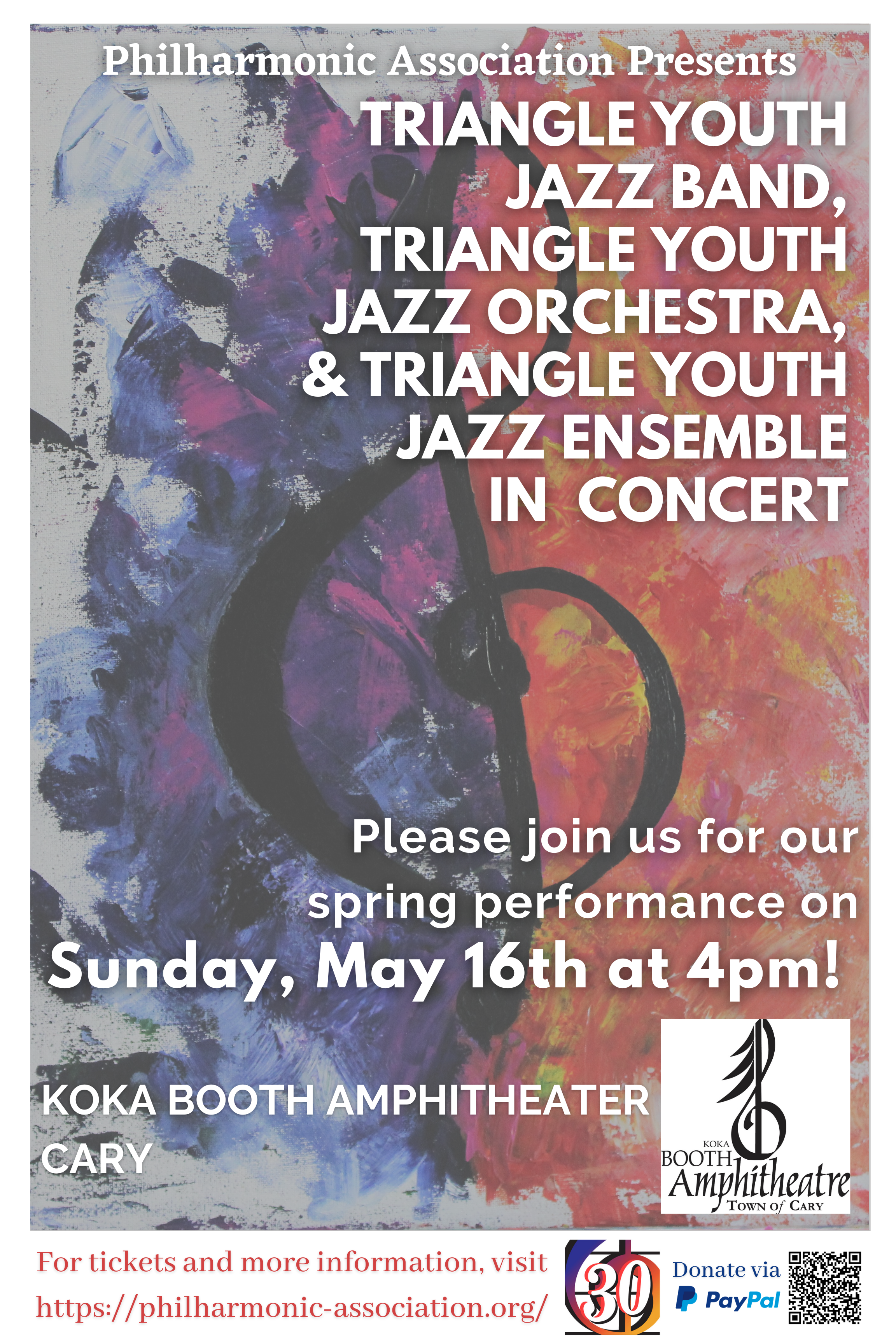 flier advertising jazz concert Sunday May 156 at 4pm