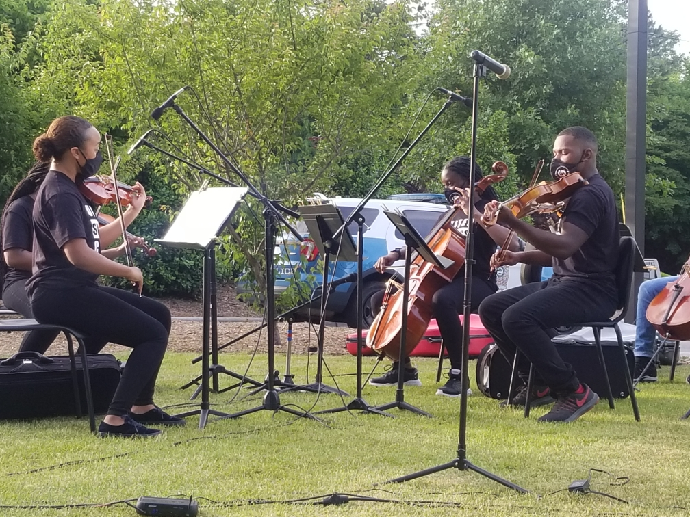 image of United Strings of Color performing